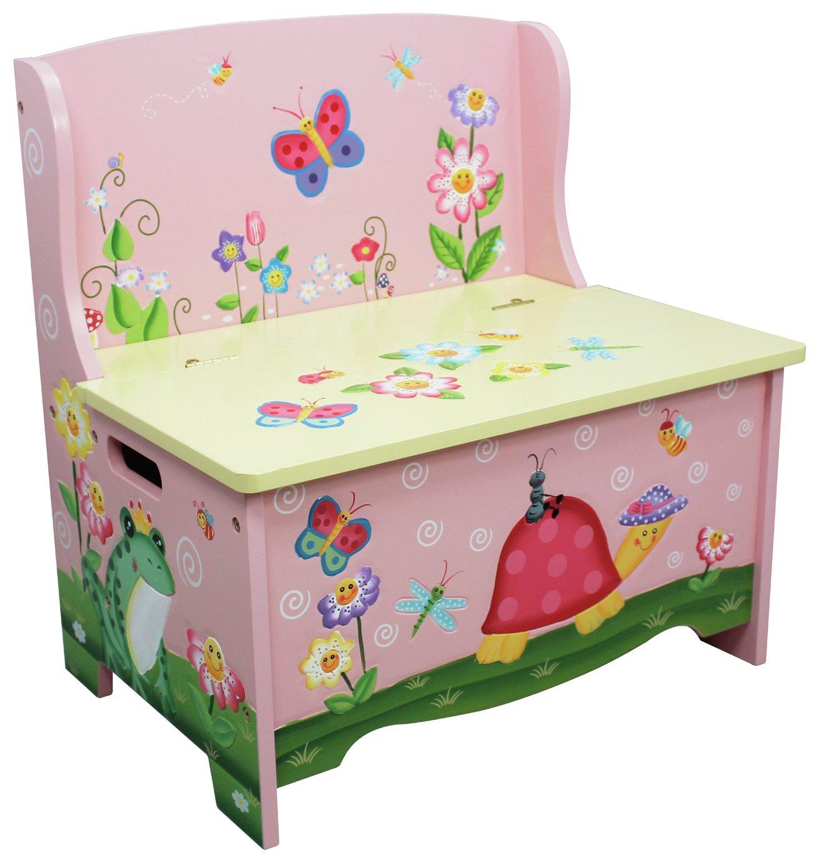 Fantasy Fields Magic Garden Kids Storage Bench
