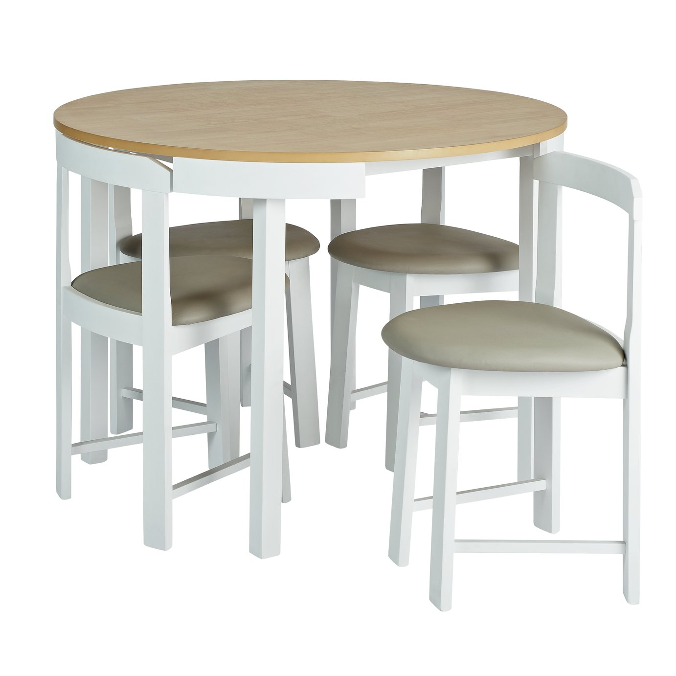 Argos Home Alena Solid Wood Table & 4 Two Tone Chairs
