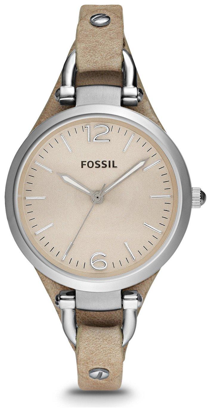 Fossil Ladies' Georgia ES2830 Bone Leather Strap Watch