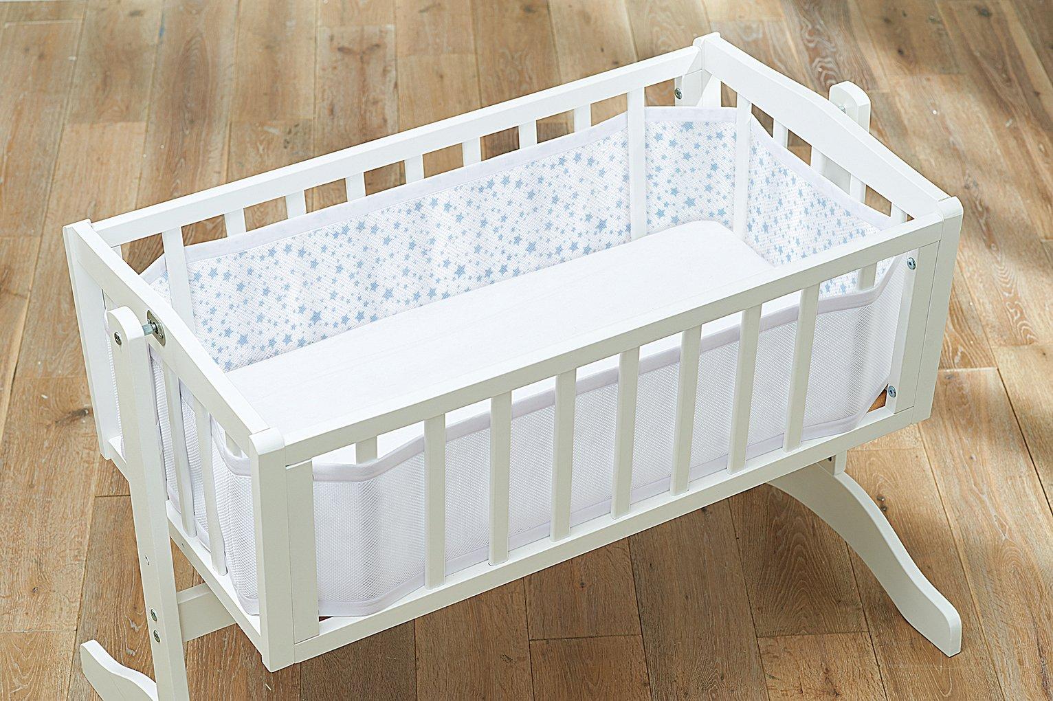 BreathableBaby Twinkle Twinkle Blue Crib Liner