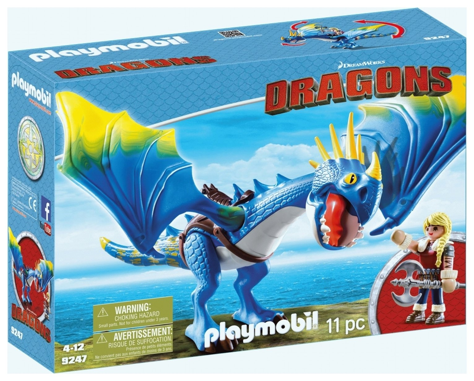 DreamWorks Dragons� 9247 Astrid & Stormfly By Playmobil