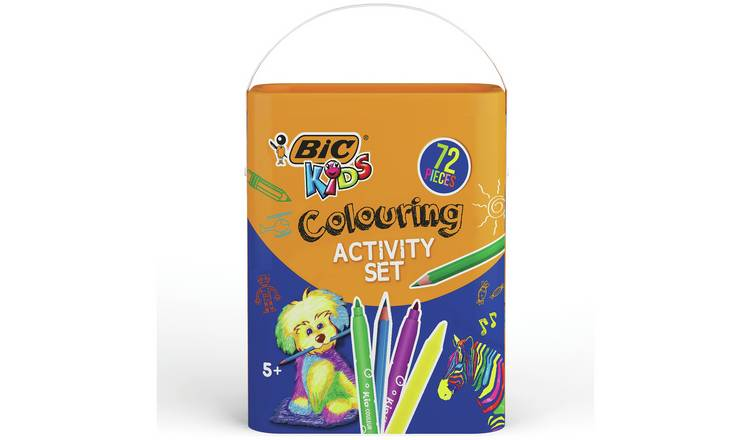BIC Kid's 72 Piece Colouring Drum
