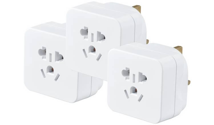 Masterplug Visitor to UK Travel Adaptor - 3 Pack