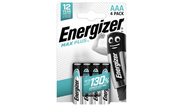 Energizer Max Plus AAA Alkaline Batteries - Pack of 4