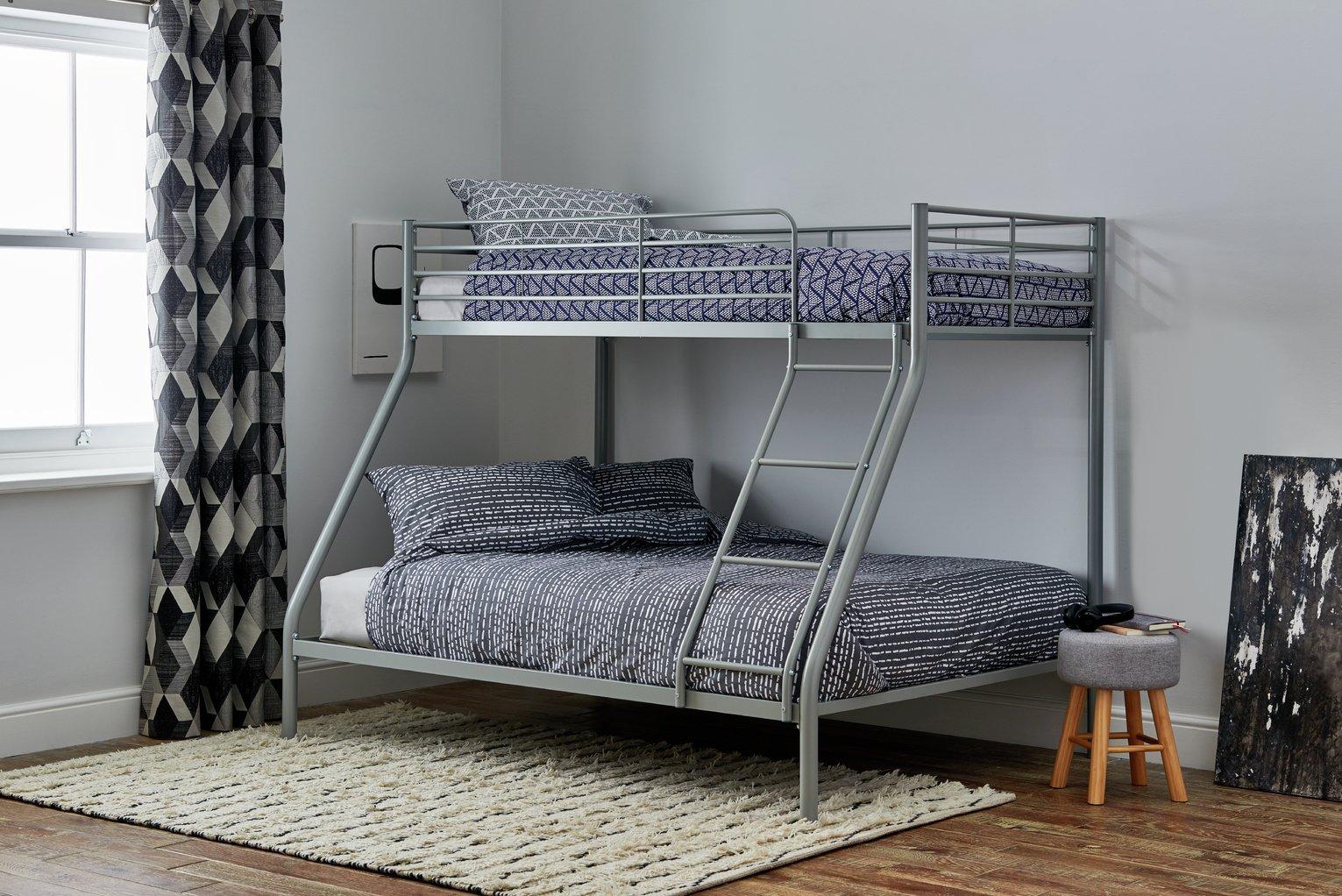 Argos Home Willen Metal Triple Bunk Bed - Silver