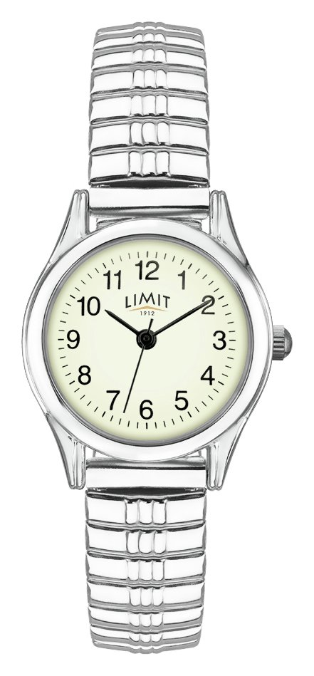 Limit Ladies' Stainless Steel Glow Dial Expander Watch