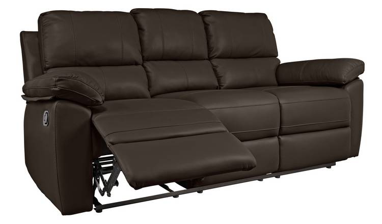 Excellent Buy Argos Home Toby 3 Seat Faux Leather Recliner Sofa Chocolate Sofas Argos Download Free Architecture Designs Grimeyleaguecom
