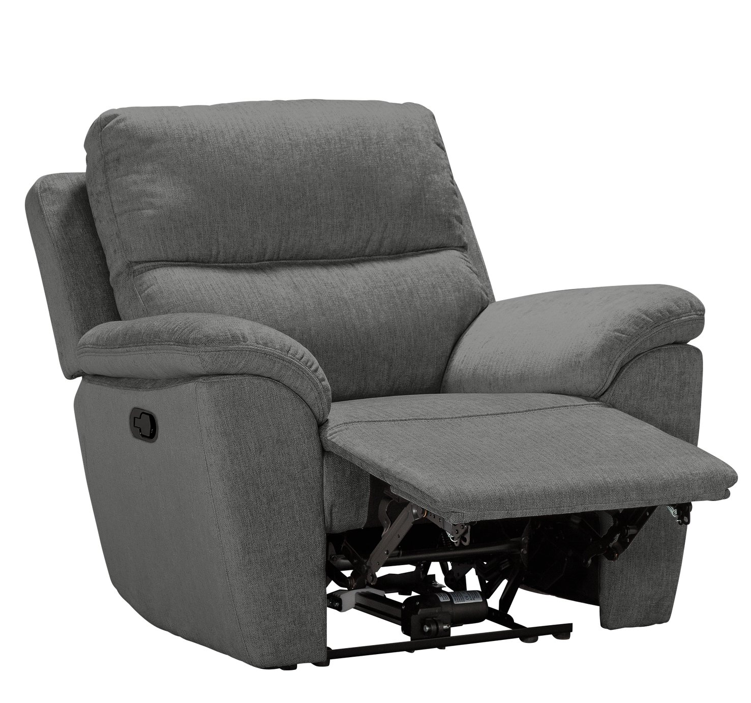 Argos Home Sandy Fabric Manual Recliner Chair - Charcoal
