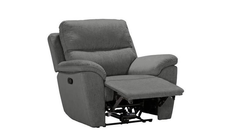 Buy Argos Home Sandy Fabric Manual Recliner Chair Charcoal | Armchairs and chairs | Argos