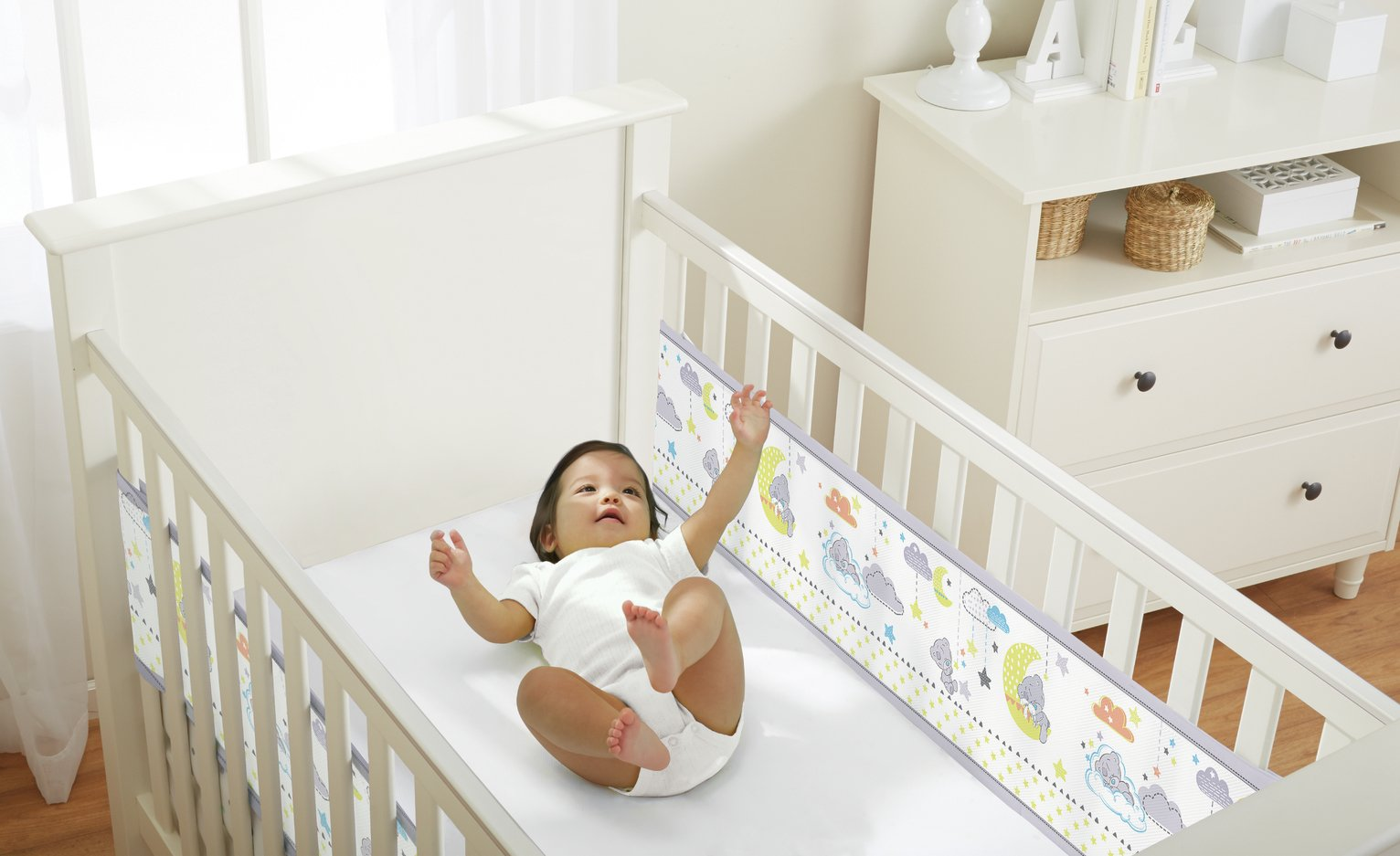 Image of BreathableBaby 2 Sided Tatty Teddy Cot Liner