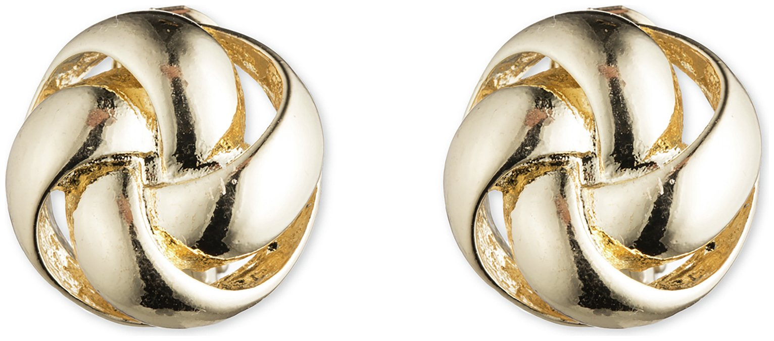 Anne Klein Gold Colour Knot Stud Clip on Earrings