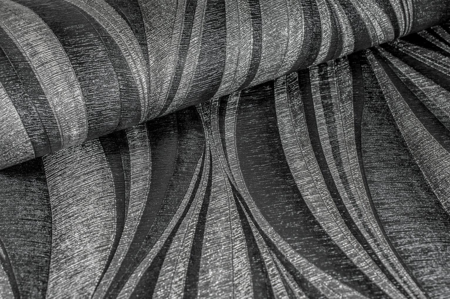 Boutique Tango Charcoal Silver Wallpaper