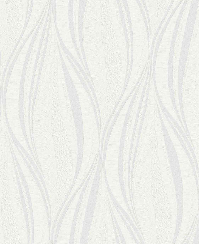 Boutique Tango - White & Silver Wallpaper