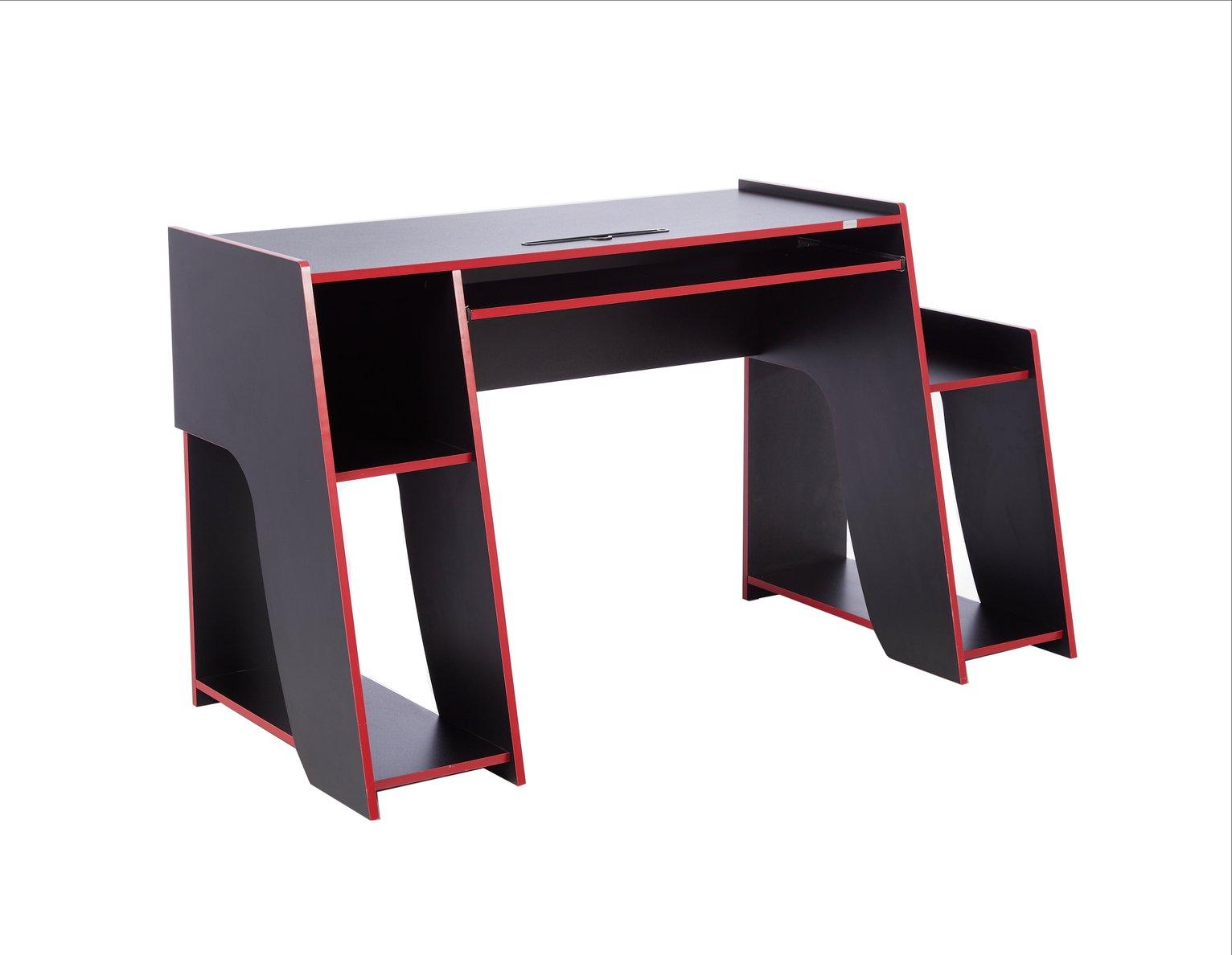 Virtuoso Horizon Gaming Desk - Red and Black