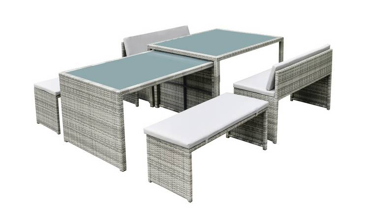 Habitat Space Saving 8 Seater Patio Set - Grey