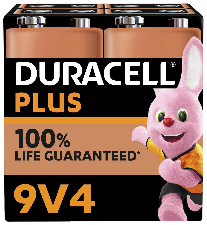 Duracell Plus Type 9V Alkaline Batteries - Pack of 4