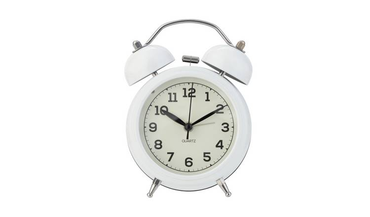 Argos Home Twin Bell Alarm Clock - White