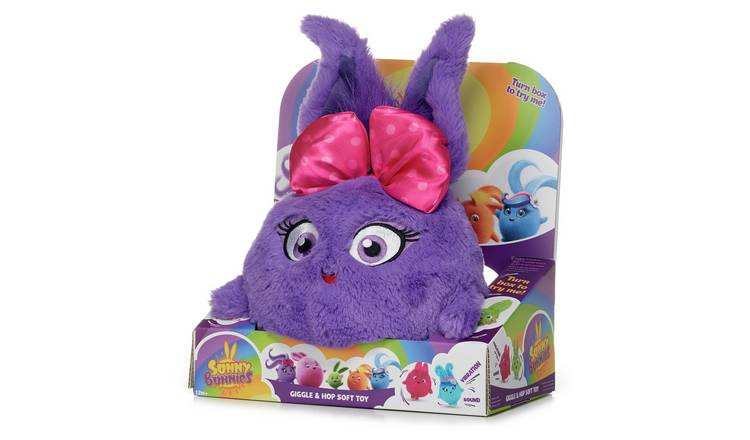 Sunny Bunnies Large Hopping Iris Fluffy Soft Toy