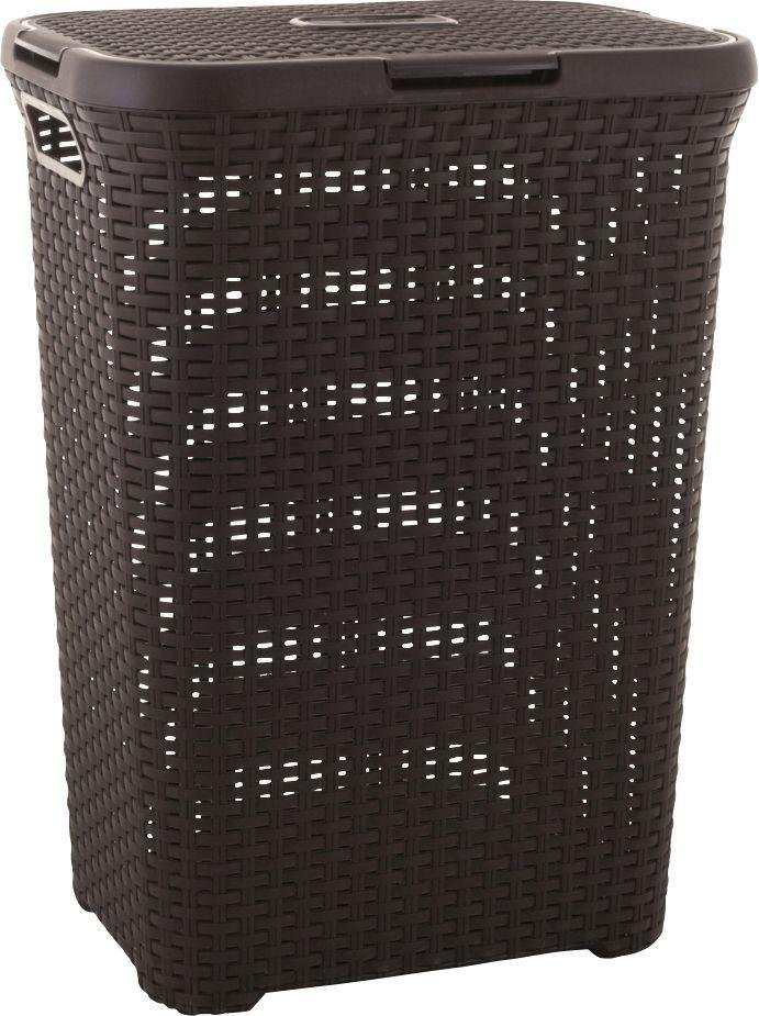 Image of Curver 40 Litre Rattan Basket - Dark Brown