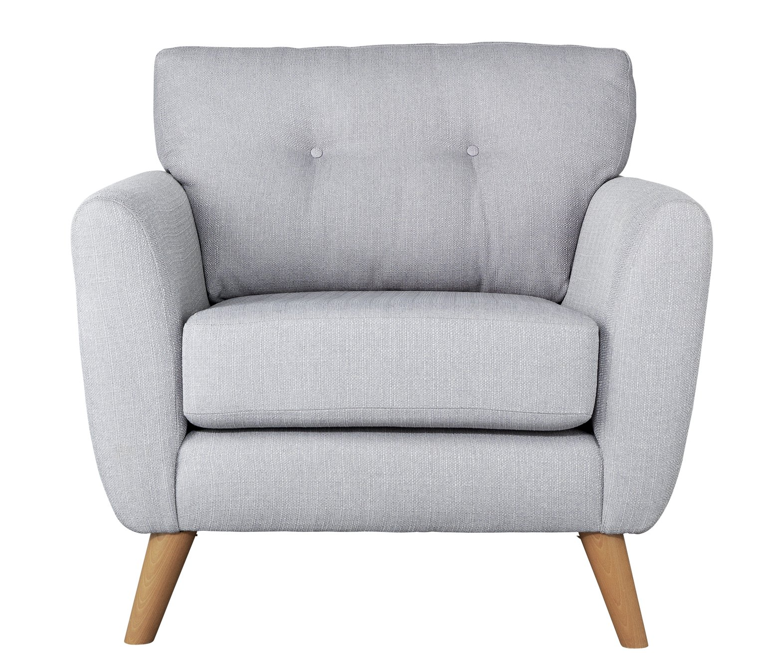 Argos Home Kari Fabric Armchair - Light Grey