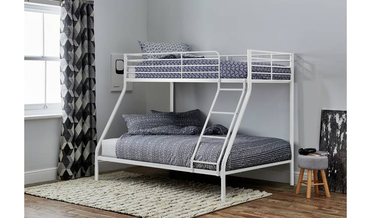 Argos Home Willen Triple Metal Bunk Bed - White