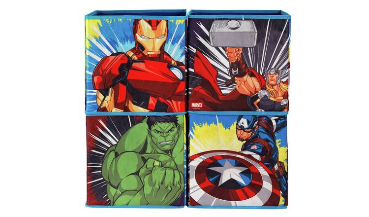 Argos Home Avengers Canvas Box - Set of 4