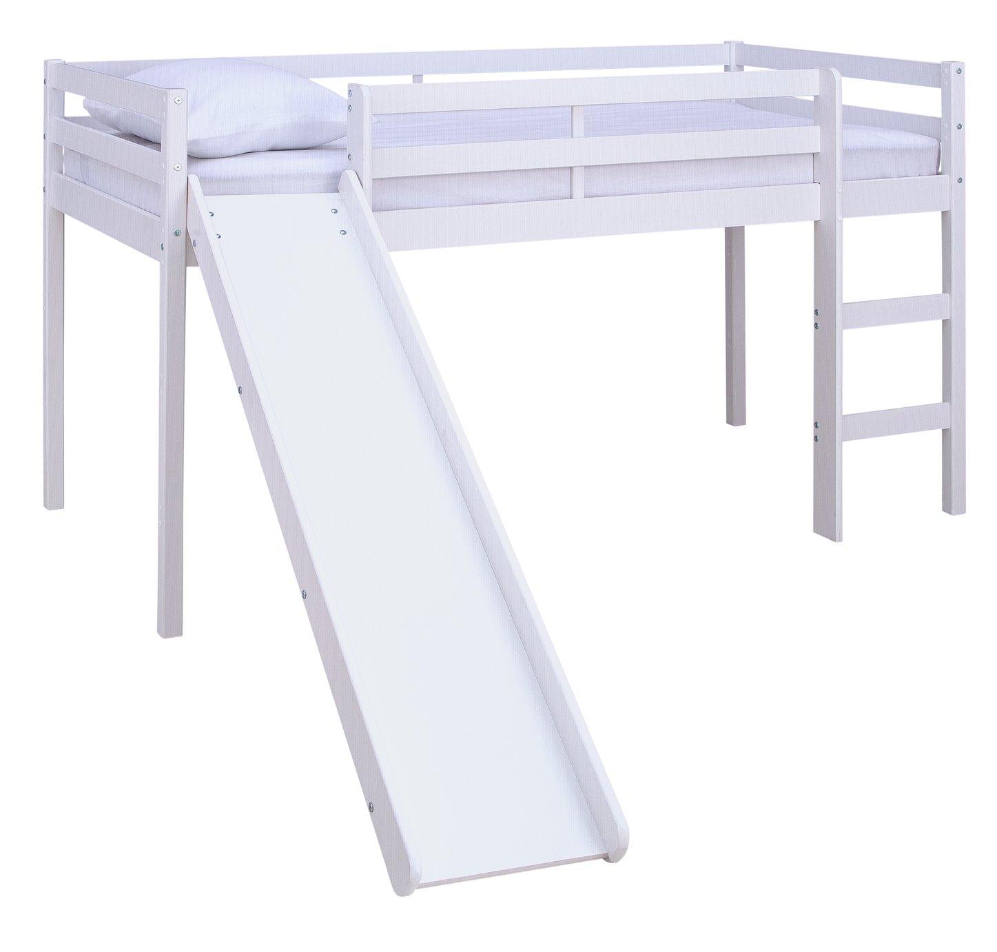 Argos Home Kaycie White Mid Sleeper with Slide