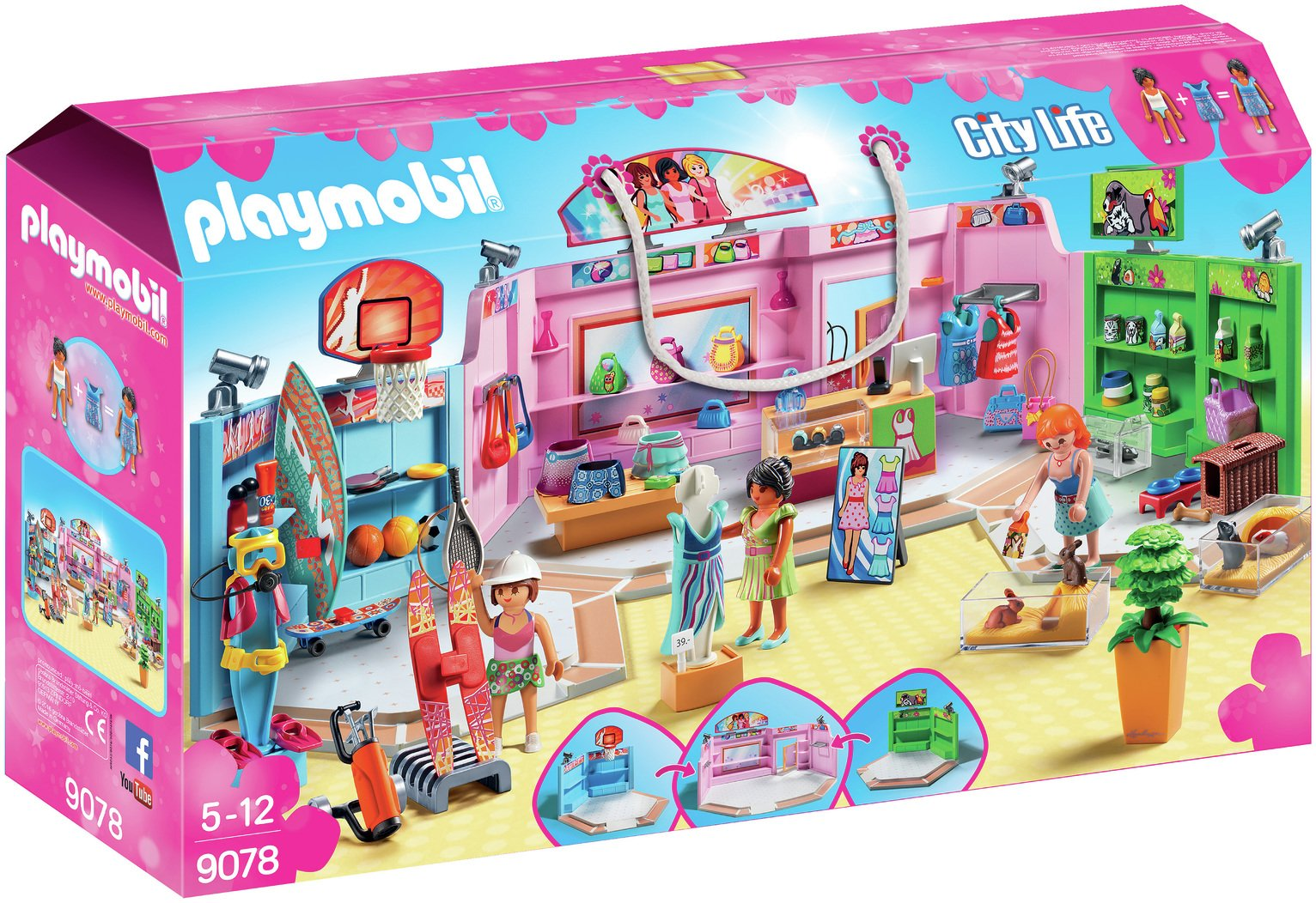Playmobil 9078 City Life Shopping Plaza