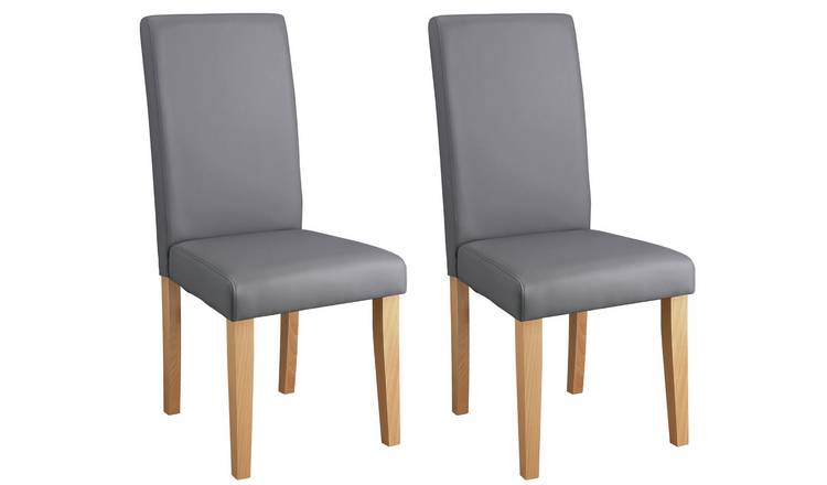 Habitat Pair of Midback Dining Chairs - Grey