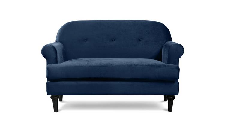 Habitat Whitney 2 Seater Velvet Sofa - Blue
