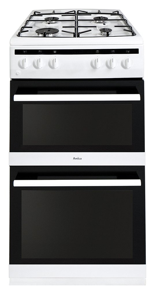 Amica AFG5500WH Double Gas Cooker - White