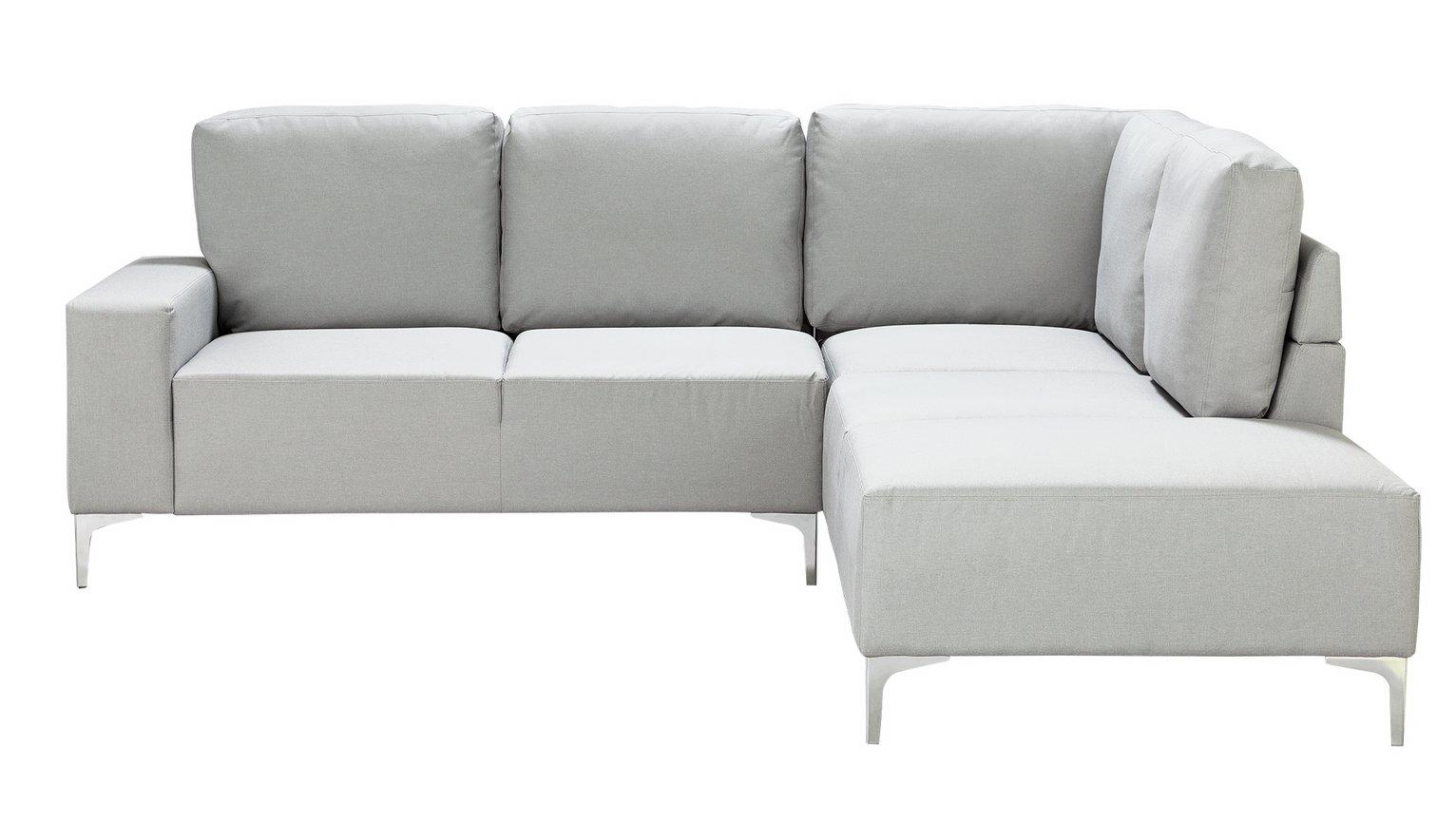 Argos Home Hale Right Corner Fabric Sofa - Light Grey