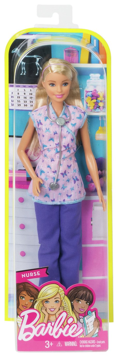 Nurse Barbie Doll with Stethoscope
