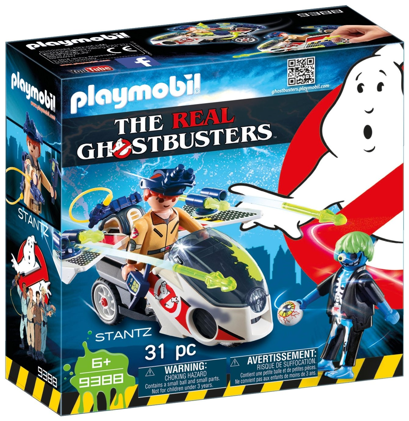 Playmobil 9388 Ghostbusters Stantz With Skybike