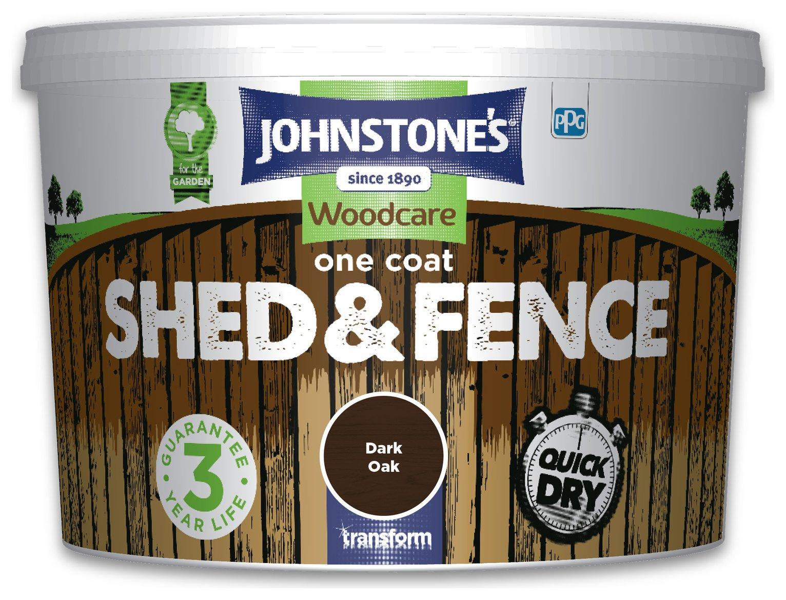Johnstone's Shed & Fence Paint 9 Litre - Dark Oak