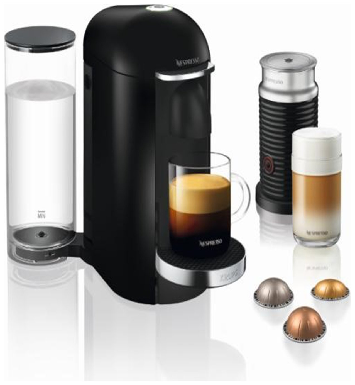Nespresso Vertuo Plus Coffee Machine Bundle by Krups-Black
