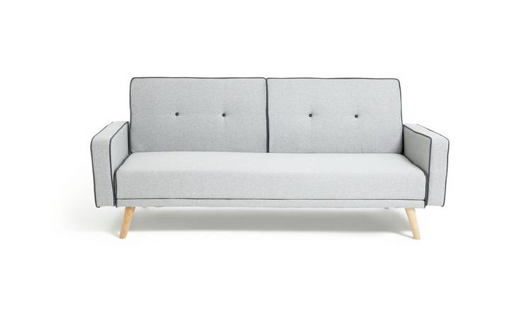 Buy Argos Home Frankie 2 Seater Clic Clac Sofa Bed Grey