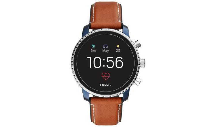Fossil Explorist Gen 4 HR Smart Watch - Brown Leather