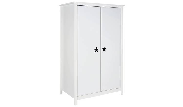 Argos Home Stars 2 Door Short Wardrobe - White