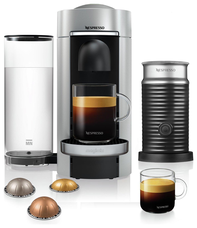 Nespresso Vertuo Plus Coffee Machine Bundle Magimix - Silver