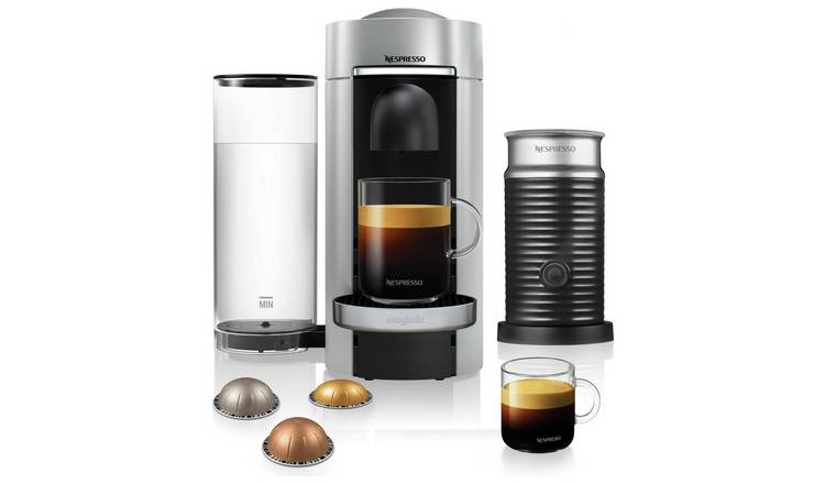 Nespresso Vertuo Plus Coffee Machine Bundle Magimix - Silver