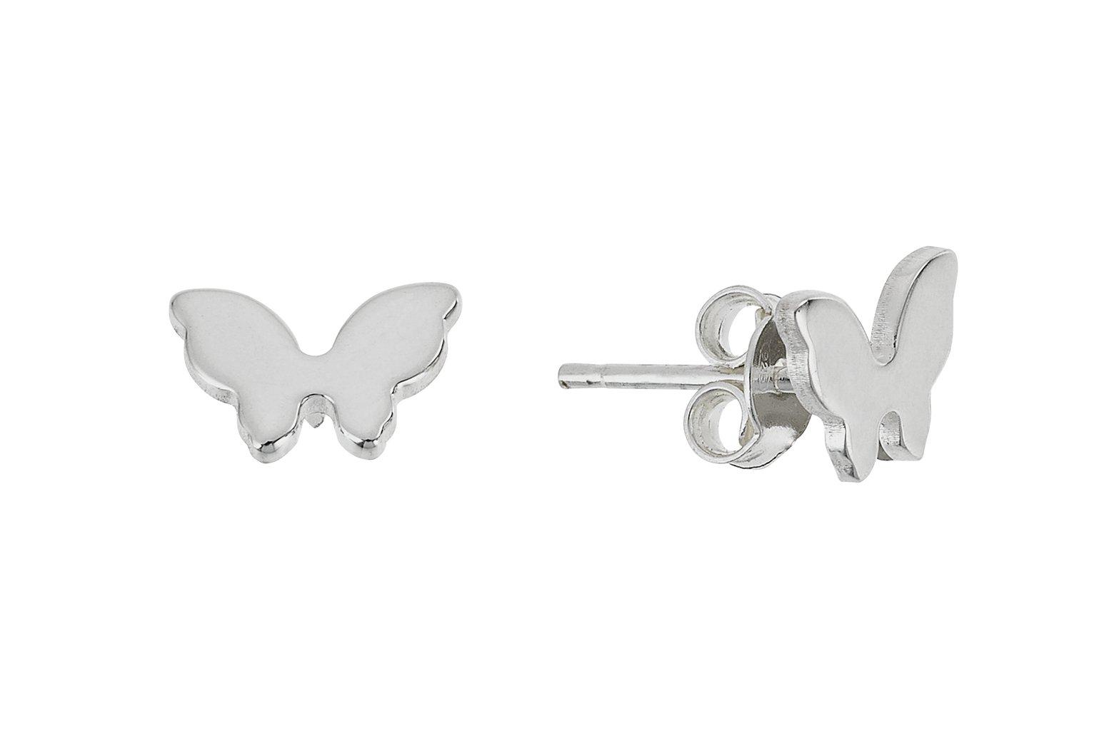 Revere Sterling Silver Butterfly Stud Earrings