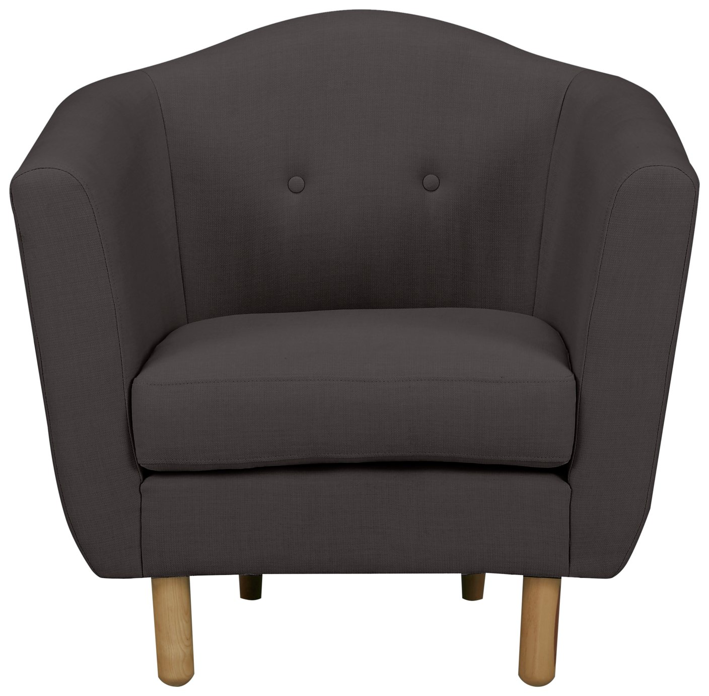 Argos Home Elin Fabric Armchair - Charcoal