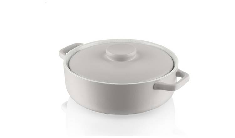 Fearne by Swan Large Shallow Casserole Dish - Grey