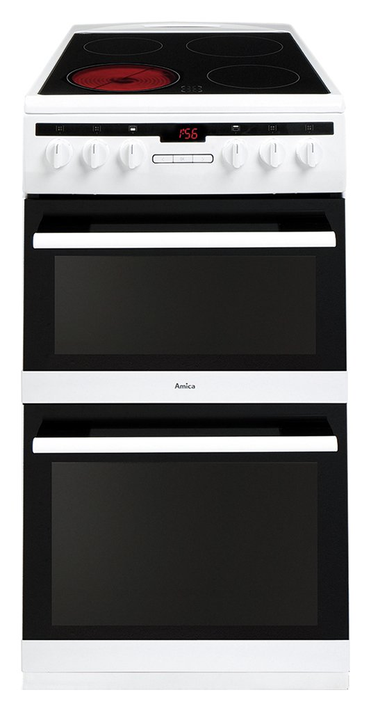 Amica AFC5550WH Double Electric Cooker - White