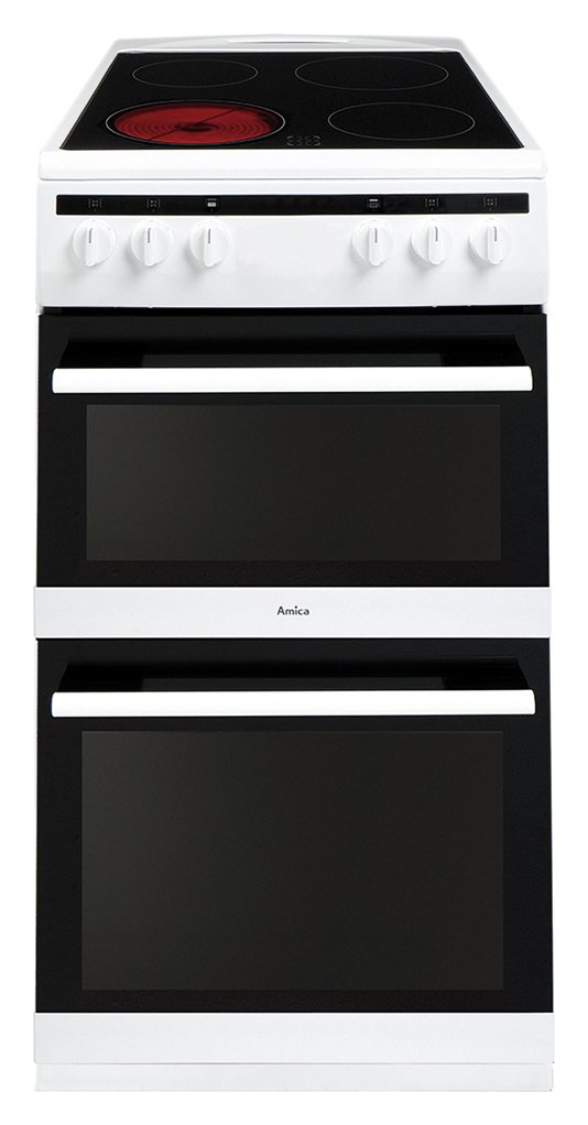 Amica AFC5100WH Double Electric Cooker - White