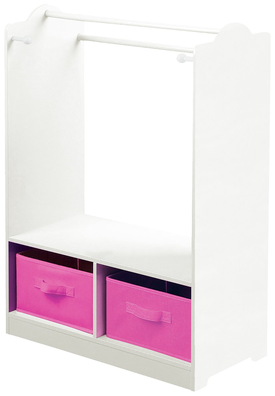 Liberty House White Dress Up Centre with Storage Bins