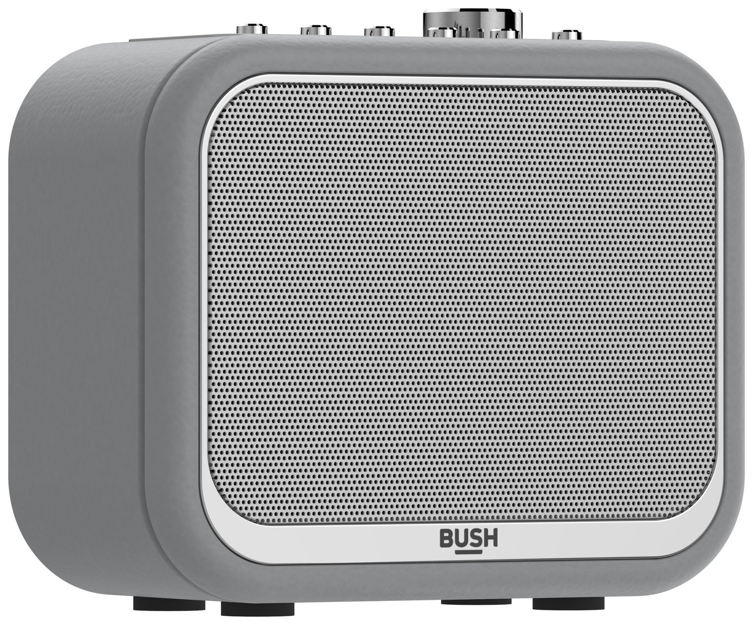 Bush Classic Mono Leather DAB Radio - Grey