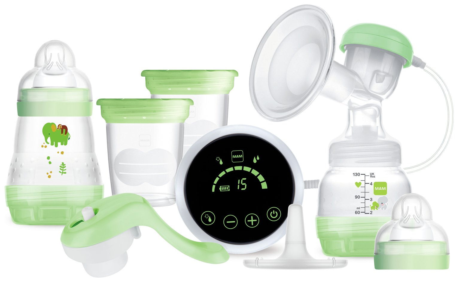 MAM 2-in-1 Single Electric and Manual Breast Pump