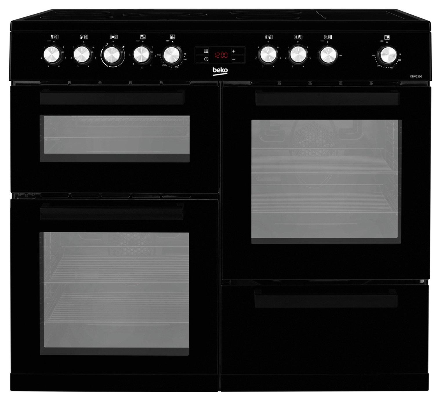 Beko KDVC100K 100cm Electric Range Cooker - Black
